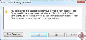 009 - Delete File Warning