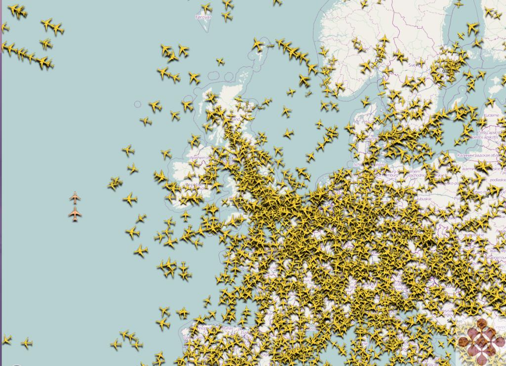 Flights Over Europe